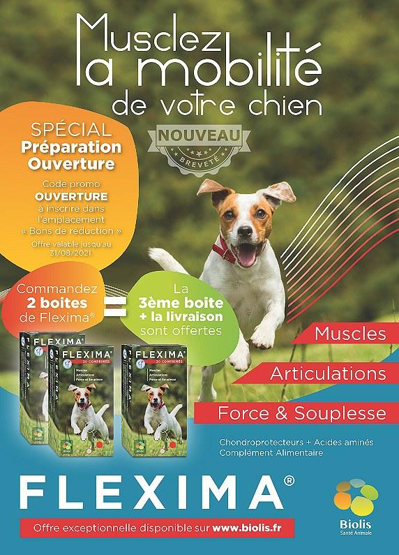 Flexima  - Musclez la mobilite de votre chien