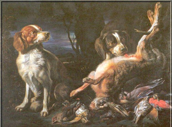 14. Chiens et tableau de chasse