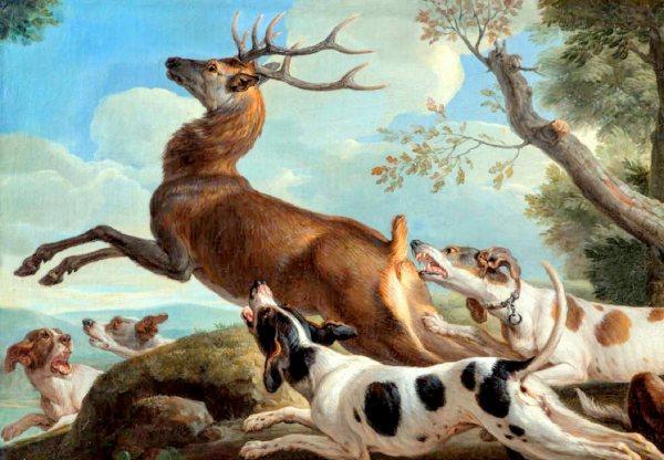 2. Chiens de chasse au cerf