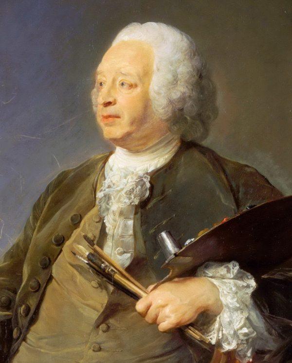 1. Jean Baptiste Oudry detail toile de J.B Perronneau en 1753.