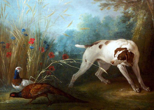 3. Scene du chien surpris par deux faisans.