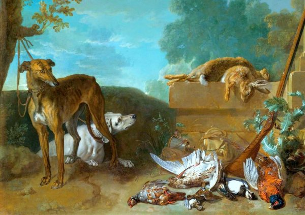 4. Scene des deux chiens attaches.