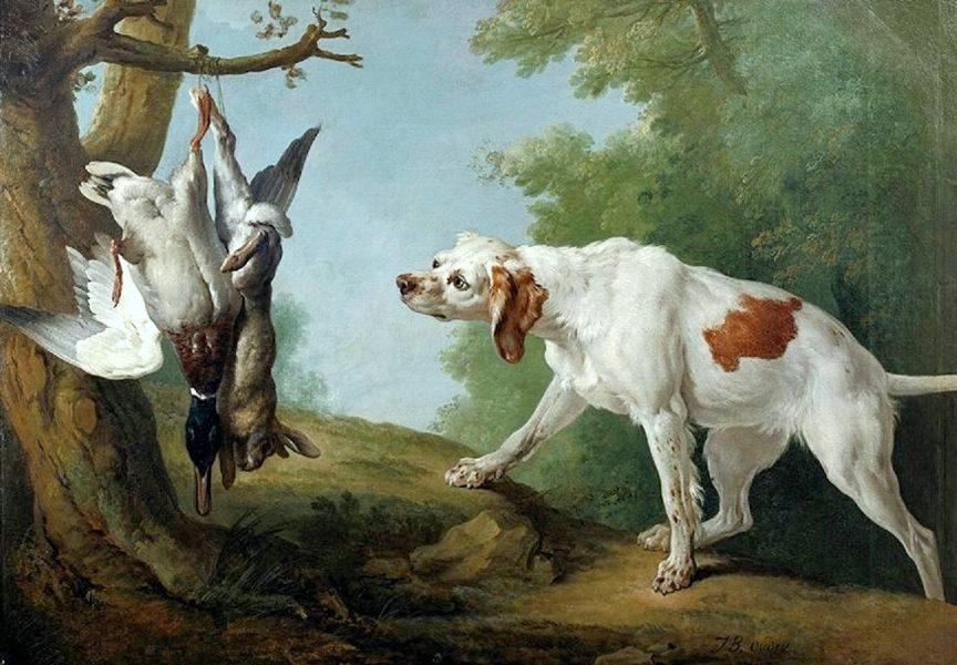 Fontainebleau : expo J-B Oudry et les chiens de Louis XV 5.-Scene-du-chien-avec-un-lapin-et-un-canard.-864x600