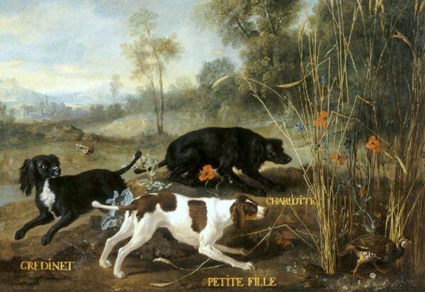 Fontainebleau : expo J-B Oudry et les chiens de Louis XV 8.-Scene-des-trois-petits-epagneuls-Gredinet-petite-fille-et-Charlotte.
